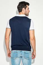 Поло мужское с рукавом сетка 50P306 (Сине-белый), фото 3