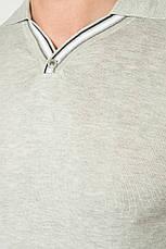 Поло мужское с полоской на рукаве 50P392 (Светло-серый), фото 2