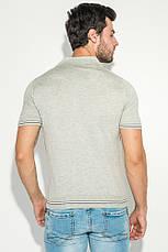Поло мужское с полоской на рукаве 50P392 (Светло-серый), фото 3
