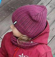 Вязаные комплекты детские шапка хомут, фото 1