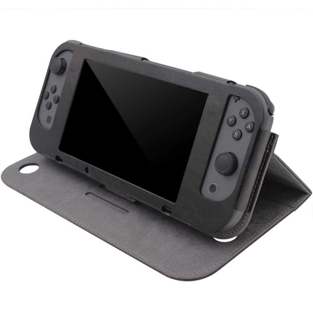 Чехол книжкой для Nintendo Switch / Оригинал / Стекла / Черный /