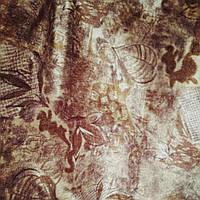 Мебельная ткань велюр для мягкой мебели сублимация цветок, фото 1