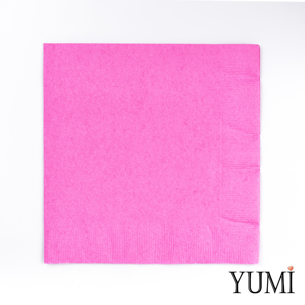 Салфетка Pink розовая 33 см / 20 шт