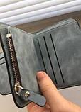 Baellerry Forever Mini Женский Замшевый Кошелёк,портмоне цвета серый и голубой, фото 2