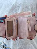 Baellerry Forever Mini Женский Замшевый Кошелёк,портмоне цвета серый и голубой, фото 5