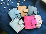 Baellerry Forever Mini Женский Замшевый Кошелёк,портмоне цвета серый и голубой, фото 6