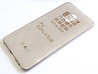 Чохол для Meizu Pro 6 Plus силіконовий ультратонкий прозорий сірий