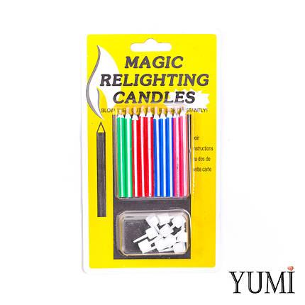 Свечи для торта магические незадуваемые 10 шт,, фото 2