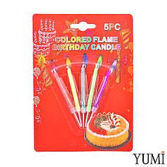 Свечи для торта цветные огни