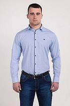 Стильная мужская рубашка в мелкую клетку (642)