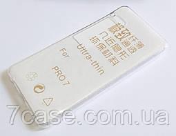 Чехол для Meizu Pro 7 силиконовый ультратонкий прозрачный
