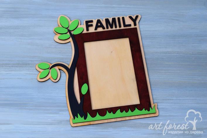 Фоторамка из фанеры (FAMILY), фото 2
