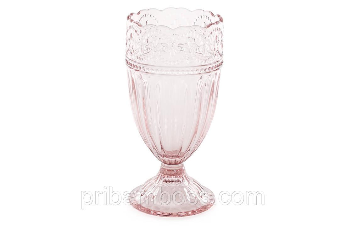 Высокий стакан 325мл, цвет - розовый 6 шт.
