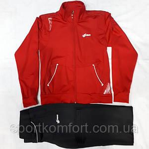 Детский спортивный эластичный костюм, красный, турецкий.