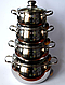 Набор посуды Edenberg EB-1115 из 8 елементов c 5слойным дном, фото 3