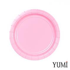 Тарелка картон New Pink розовая 17см / 8 шт. Amscan