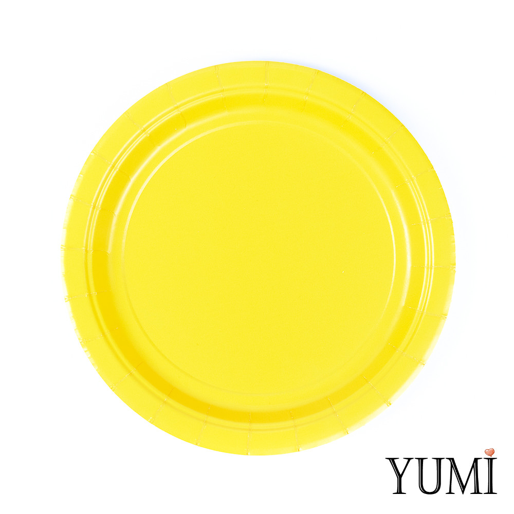 Тарелка картон Sunshine Yellow 17см / 8 шт. Amscan