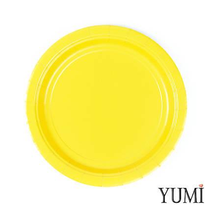 Тарелка картон Sunshine Yellow 17см / 8 шт. Amscan, фото 2