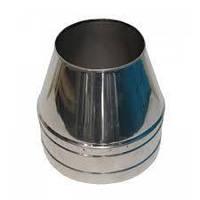 Дымоходный конус нержавеющий в нержавеющем кожухе 120 мм