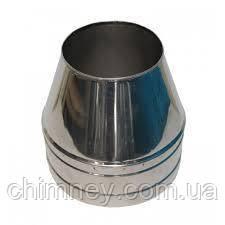 Дымоходный конус нержавеющий в нержавеющем кожухе 140 мм