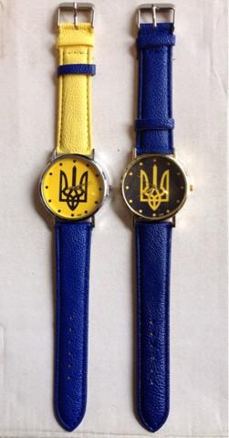 "Годинник ""Синьо-жовтий прапор України"" Патріот (жовто-блакитний ремінець) (Арт. 89)"