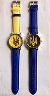 "Годинник ""Синьо-жовтий прапор України"" Патріот (жовто-блакитний ремінець) (Арт. 89), фото 1"