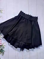 Школьная юбкаподростковаядля девочкиот 8до 12лет, черная