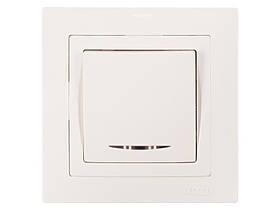 Выключатель с подсветкой Luxel BRAVO (5005) белый