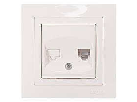 Розетка телефонная Luxel BRAVO (5010) белая