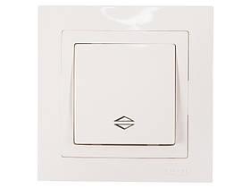 Выключатель проходной Luxel BRAVO (5015) белый
