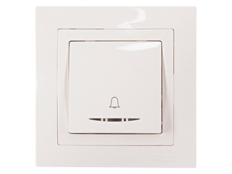 Кнопка звонка с подсветкой Luxel BRAVO (5018) белая