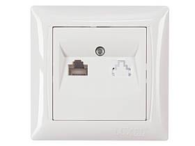 Компьютерная розетка Luxel PRIMERA (3027) белая
