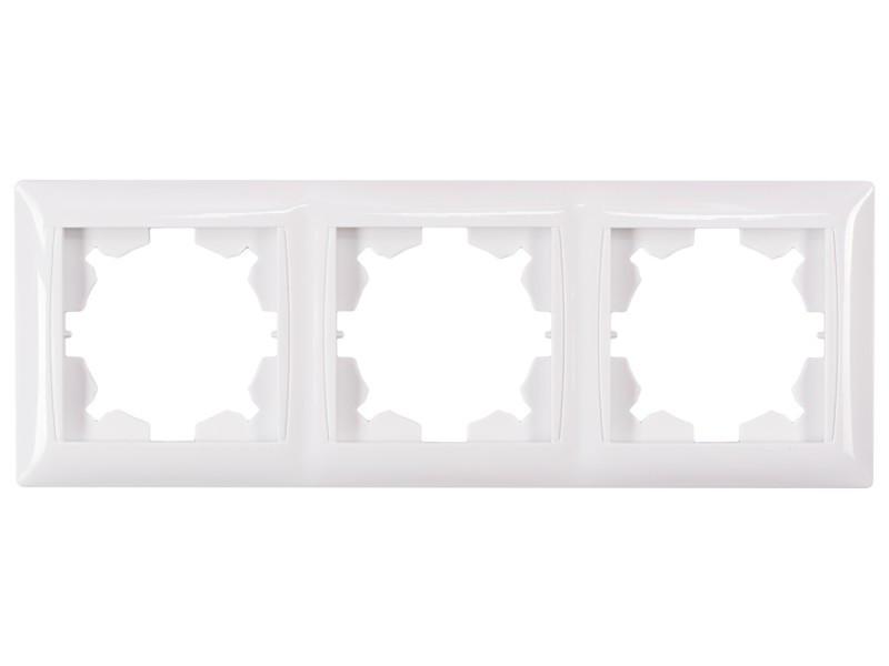 Рамка 3-я горизонтальная Luxel PRIMERA (3023) белая