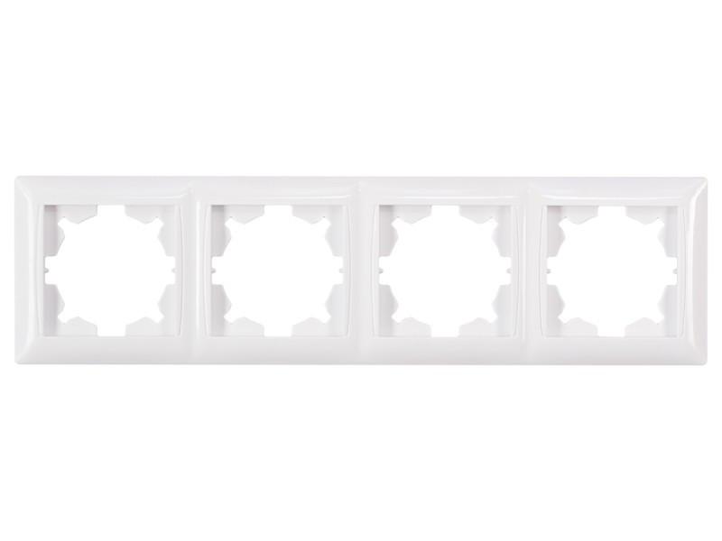 Рамка 4-я горизонтальная Luxel PRIMERA (3024) белая