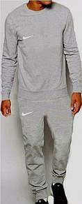 Мужской спортивный костюм с модным лого ткань трикотаж С-ка серый