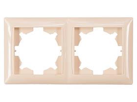 Рамка 2-я горизонтальная Luxel PRIMERA (3322) кремовая