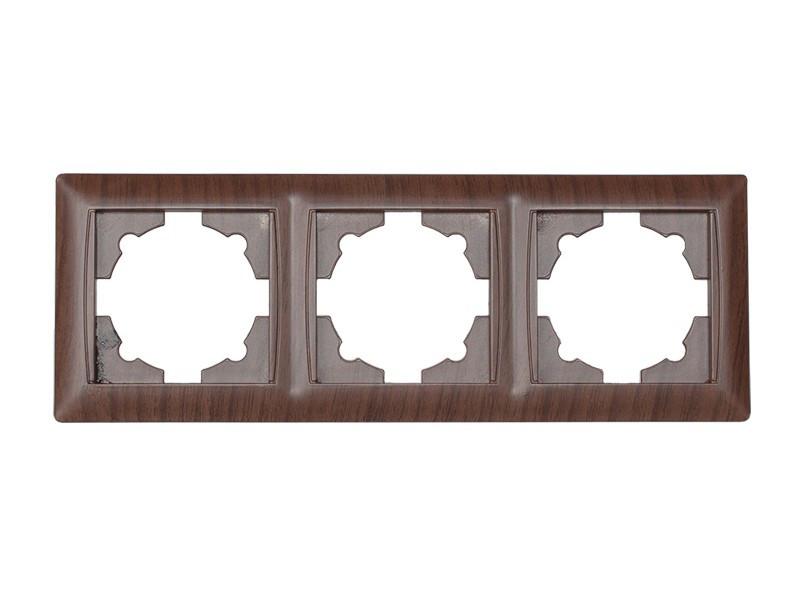 Рамка 3-я горизонтальная Luxel PRIMERA (3923) вишневая