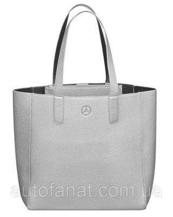 Оригинальная сумка для покупок Mercedes-Benz Shopper, Silver / Black-coloured (B66953712)