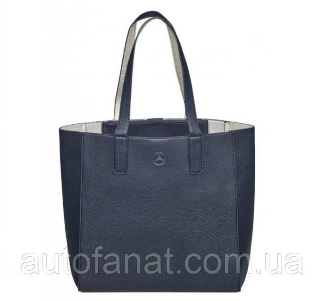 Оригинальная сумка для покупок Mercedes-Benz Shopper, Blue / Silver-coloured (B66953714)