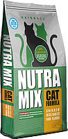 Nutra Mix Hairball корм для взрослых кошек с курицей и овощами, выведение комочков шерсти, 9.07 кг
