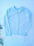 Блузка школьнаяподростковая для девочки от 8до 12лет, голубая