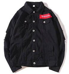 Джинсовая куртка Supreme 'Black' (Суприм) черная