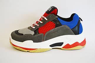 Кросівки жіночі червоно-сірі Sopra 806, фото 2