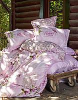 Постельное белье 200х220 сатин KARACA HOME WISTERIA PEMBE розовый