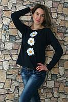 """Женская свитшот вышиванка """"БУКЕТ РОМАШОК"""" размеров  42, 44, 46, 48, 50, 52, 54, 56 ,   купить , фото 1"""