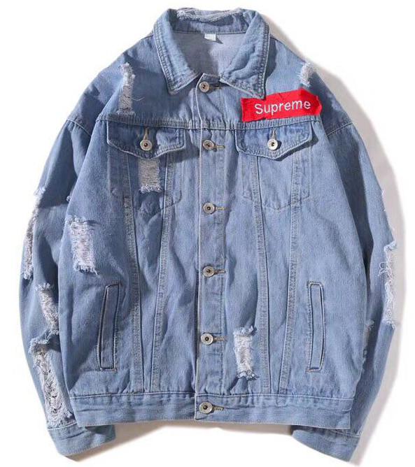 Джинсовая куртка Supreme (Суприм) голубая