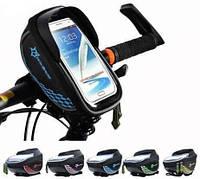 Велосипедна сумка на кермо ROCKBROS КОЗИРОК ( під смартфон 5.5-6 дюймів ), фото 1