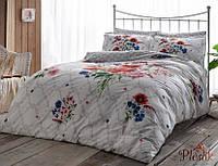 Комплект постельного белья 200х220 TAC DELUX-SATIN SELBY V01 бордовый