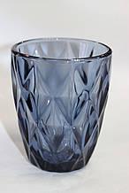 Стакан для напитков, синий, стеклянный, 250 мл