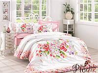 Двуспальное постельное белье 200х220 Cotton box Ранфорс  HELIA PUDRA